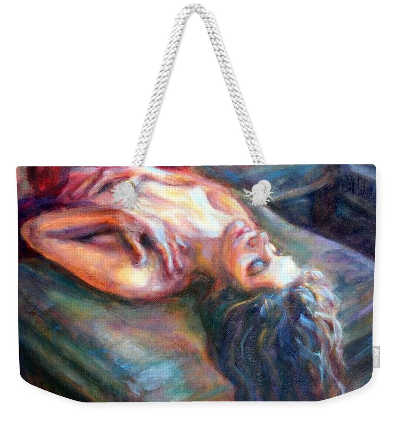 Impressionism Weekender Tote Bag featuring the painting Loved by Quin Sweetman