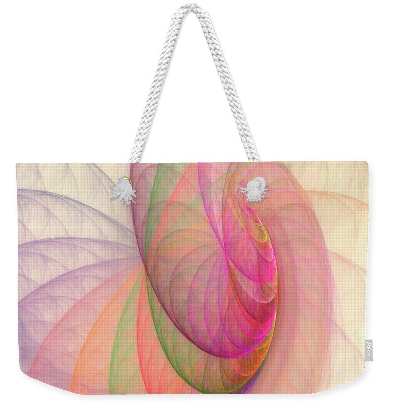 Fractal Weekender Tote Bag featuring the digital art Lovely Morning by Angela Stanton
