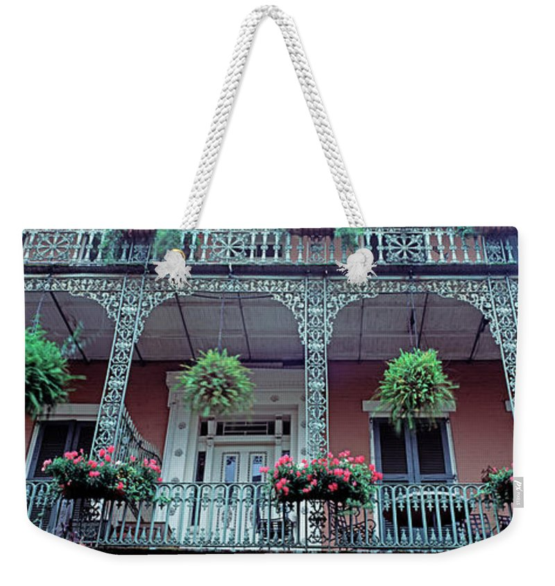 Apartment Weekender Tote Bag featuring the photograph Low Angle View Of A Historic Building by Murat Taner