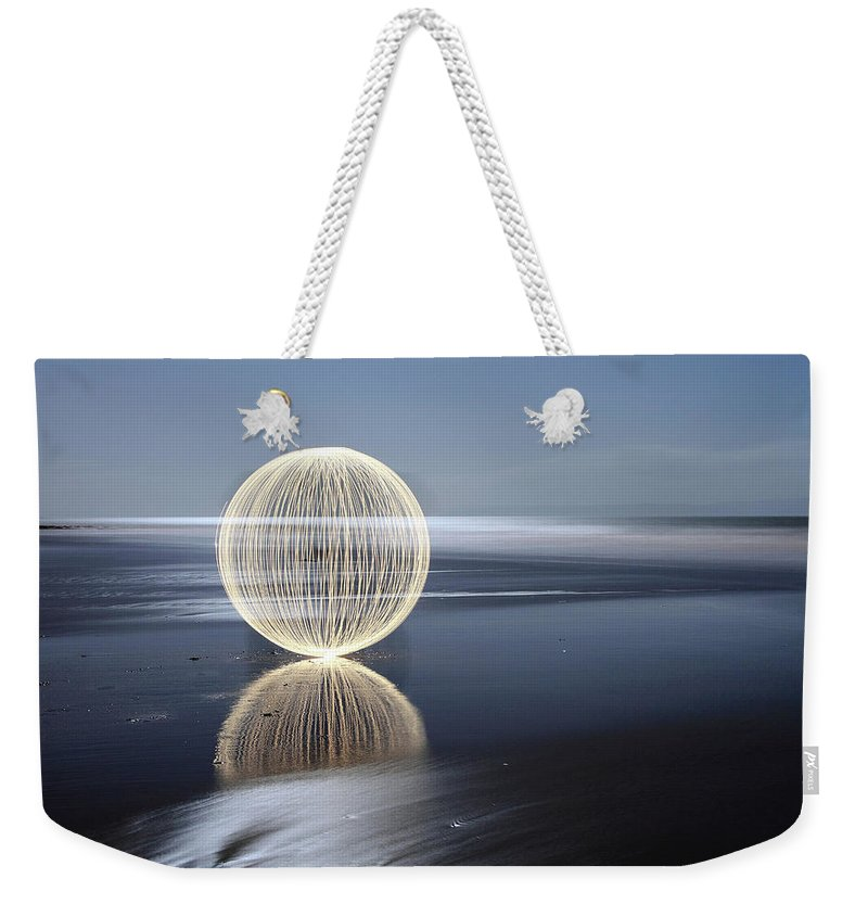Light Painting Weekender Tote Bag featuring the photograph Low Tide Reflection by Andrew John Wells