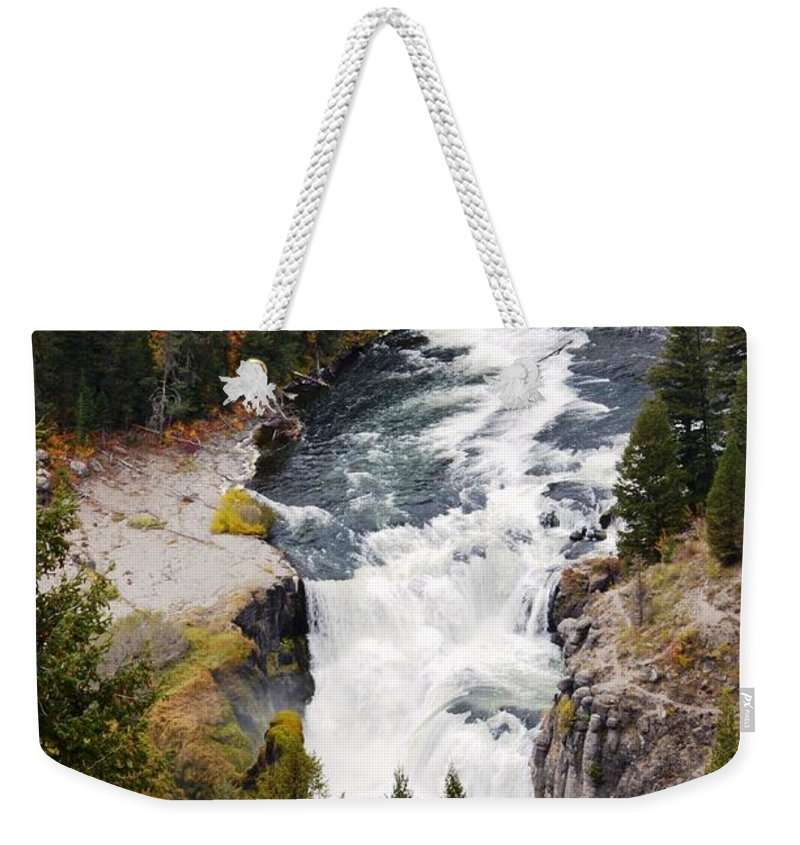 Waterfall Weekender Tote Bag featuring the photograph Lower Mesa by Deanna Cagle