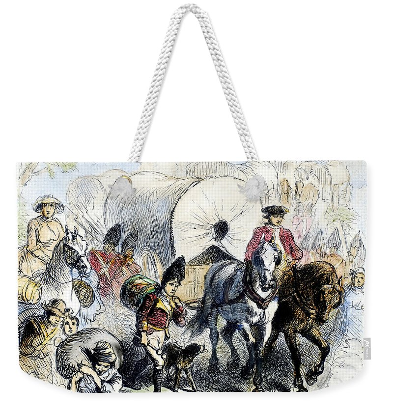 1778 Weekender Tote Bag featuring the photograph Loyalists & British, 1778 by Granger