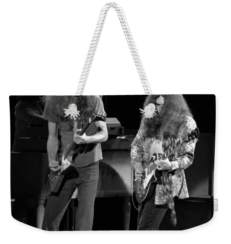 Lynyrd Skynyrd Weekender Tote Bag featuring the photograph Ls Spo #21 Crop 4 by Ben Upham