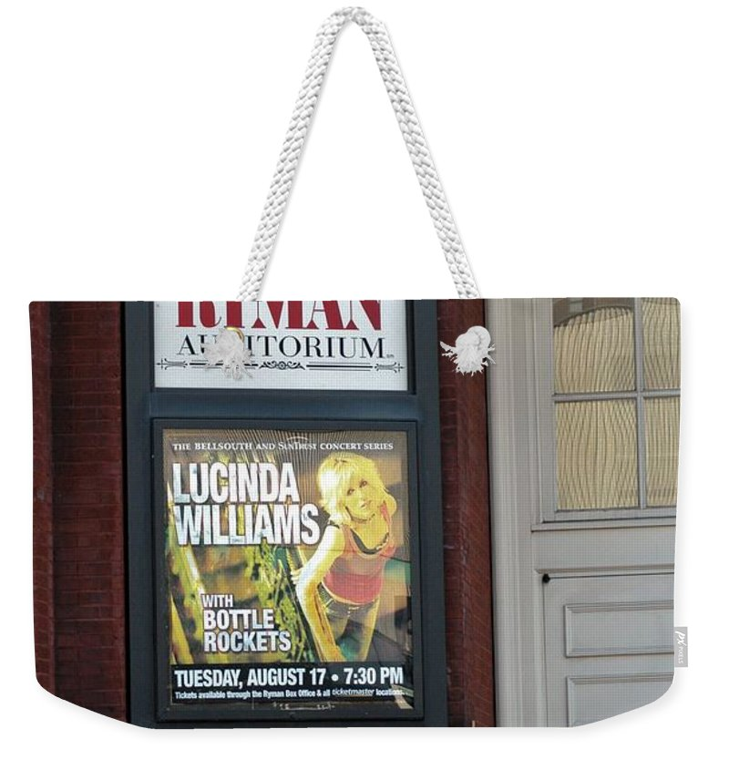 Entry Weekender Tote Bag featuring the photograph Lucinda by Joseph Yarbrough