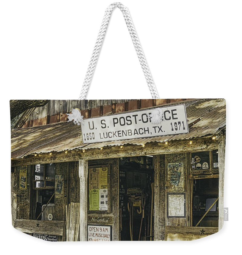 Luckenbach Weekender Tote Bag featuring the photograph Luckenbach by Scott Norris