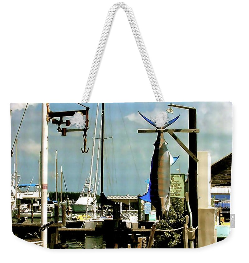 Key West Fishing Weekender Tote Bag featuring the painting Lucky Fleet Key West by Iconic Images Art Gallery David Pucciarelli