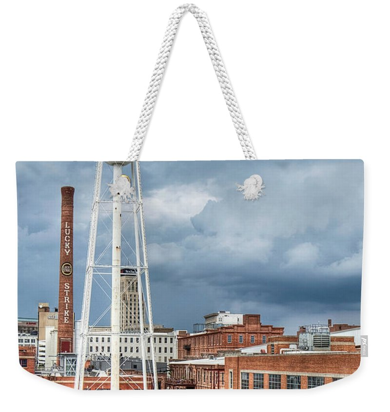 Durham Weekender Tote Bag featuring the photograph Lucky Strike by Emily Kay