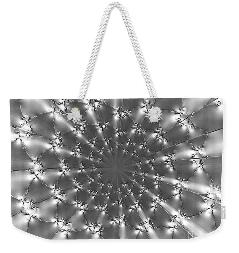 Weekender Tote Bag featuring the digital art Diamonds by Dana Haynes