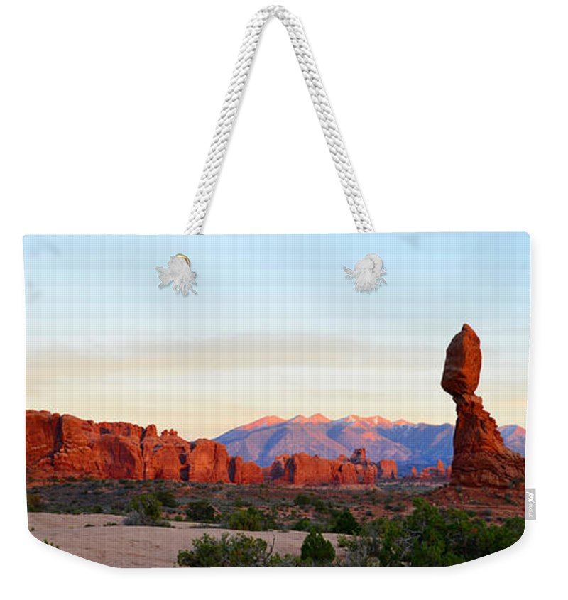 Arches National Park Utah Weekender Tote Bag featuring the photograph A Sandstone Landscape by David Lee Thompson