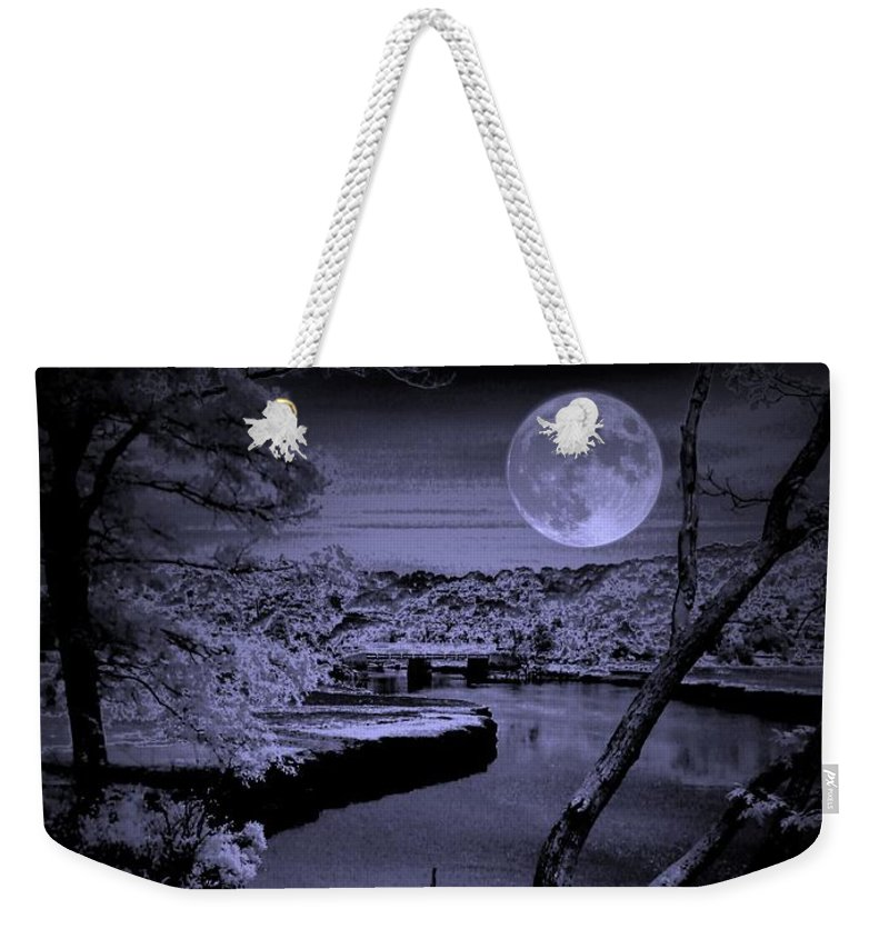 Landscape Weekender Tote Bag featuring the photograph Luna See by Robert McCubbin