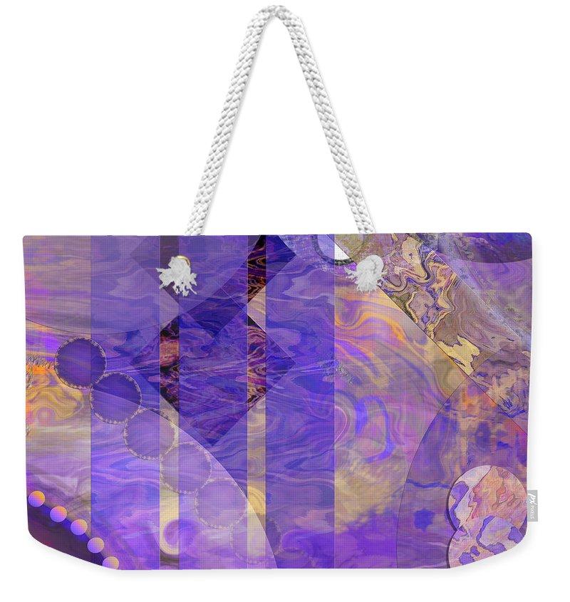 Lunar Weekender Tote Bag featuring the digital art Lunar Impressions 2 - Square Version by John Robert Beck