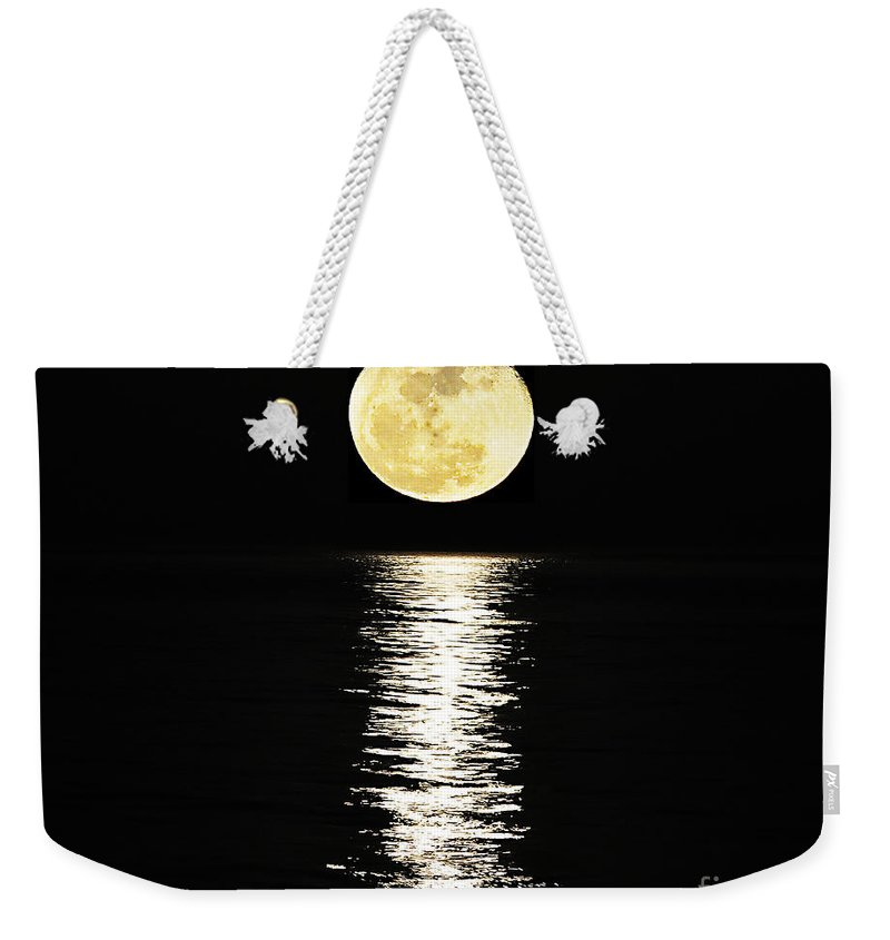 Moon Weekender Tote Bag featuring the photograph Lunar Lane 03 by Al Powell Photography USA