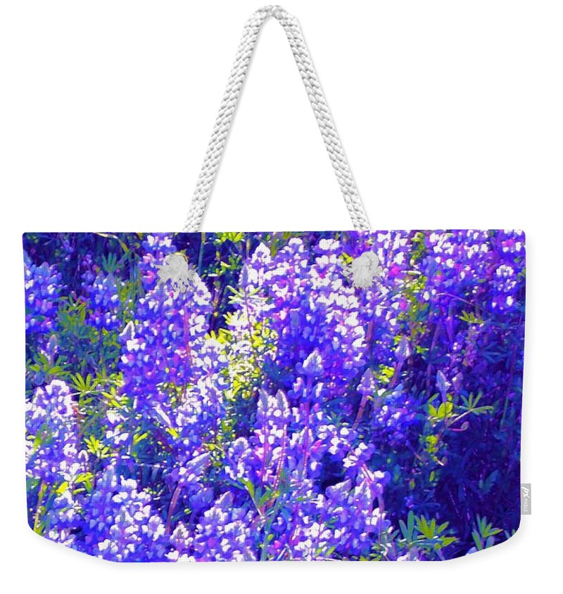 Flowers Weekender Tote Bag featuring the photograph Lupine 2 by Pamela Cooper