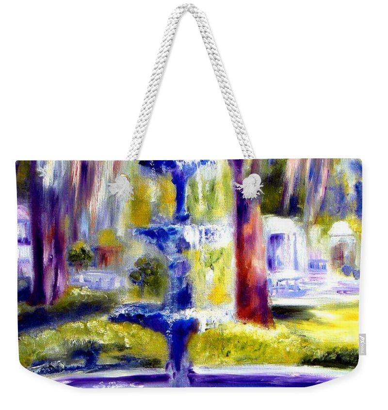 Savannah Weekender Tote Bag featuring the painting Luv by Sandy Ryan