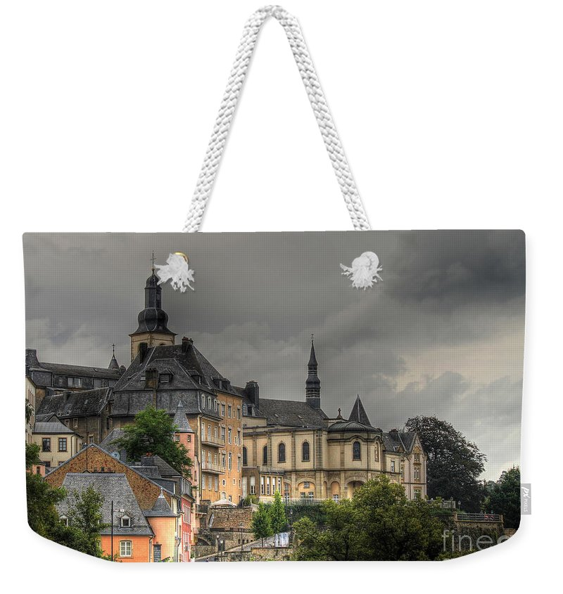 Luxembourg Weekender Tote Bag featuring the photograph Luxembourg City by Emily Kay