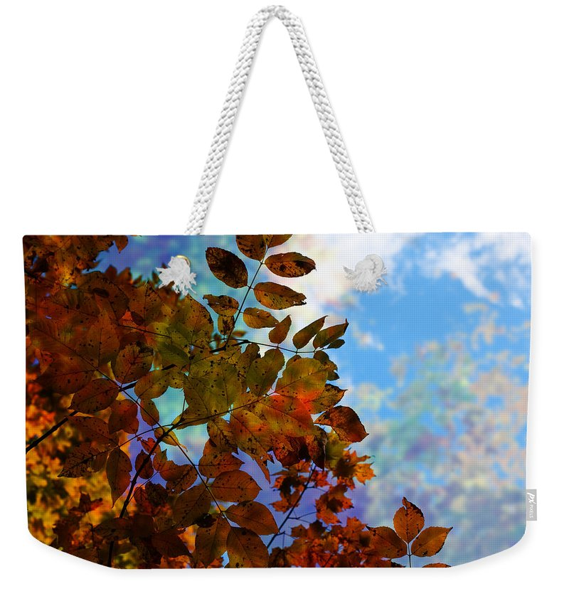 Flowers Weekender Tote Bag featuring the photograph Lying In The Grass by The Artist Project