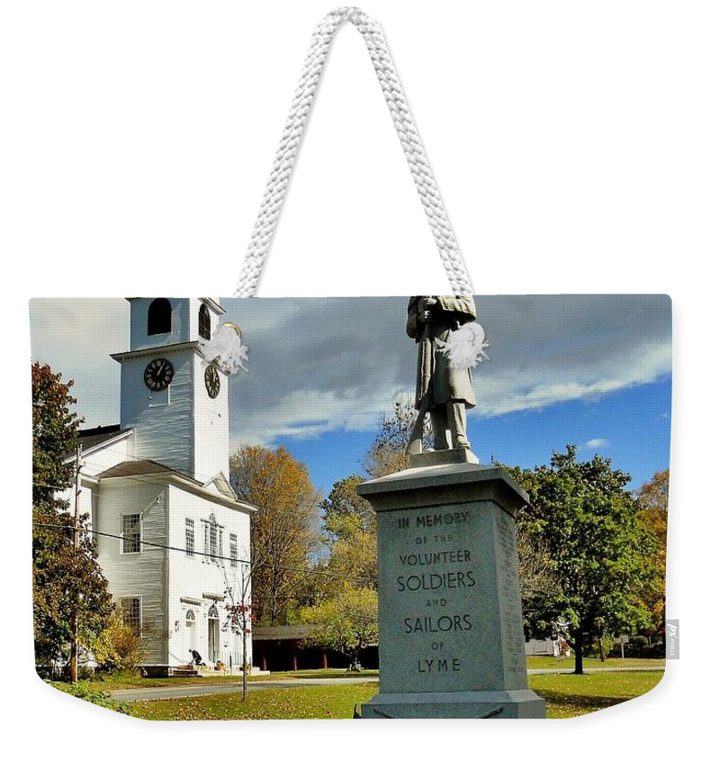 Lyme Weekender Tote Bag featuring the photograph Lyme New Hampshire by Benjamin Yeager