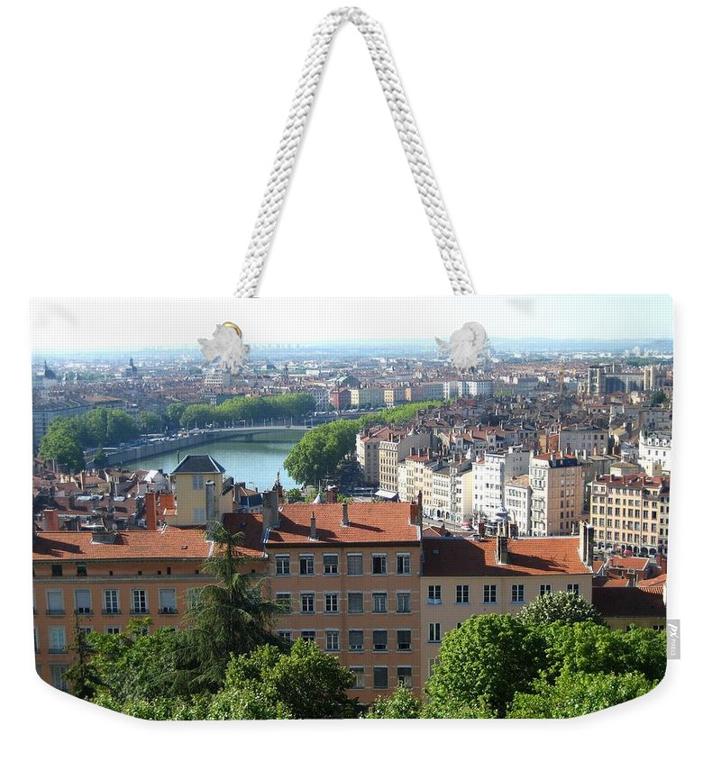 Lyon Weekender Tote Bag featuring the photograph Lyon From Above by Dany Lison