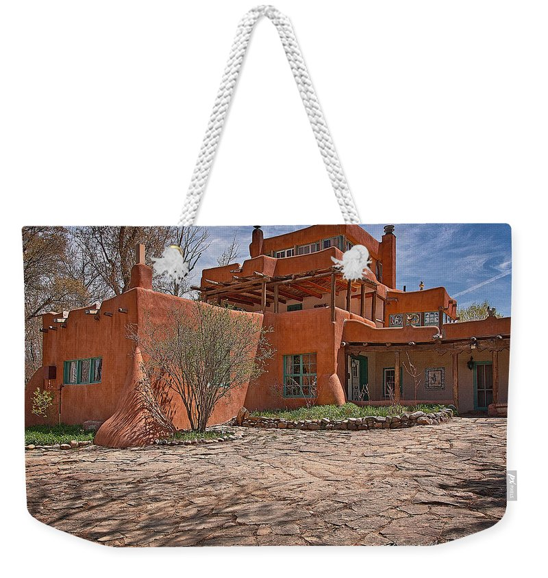 Santa Weekender Tote Bag featuring the photograph Mabel Dodge Luhan House by Charles Muhle