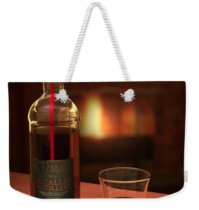 3d Weekender Tote Bag featuring the photograph Macallan 1973 by Adam Romanowicz