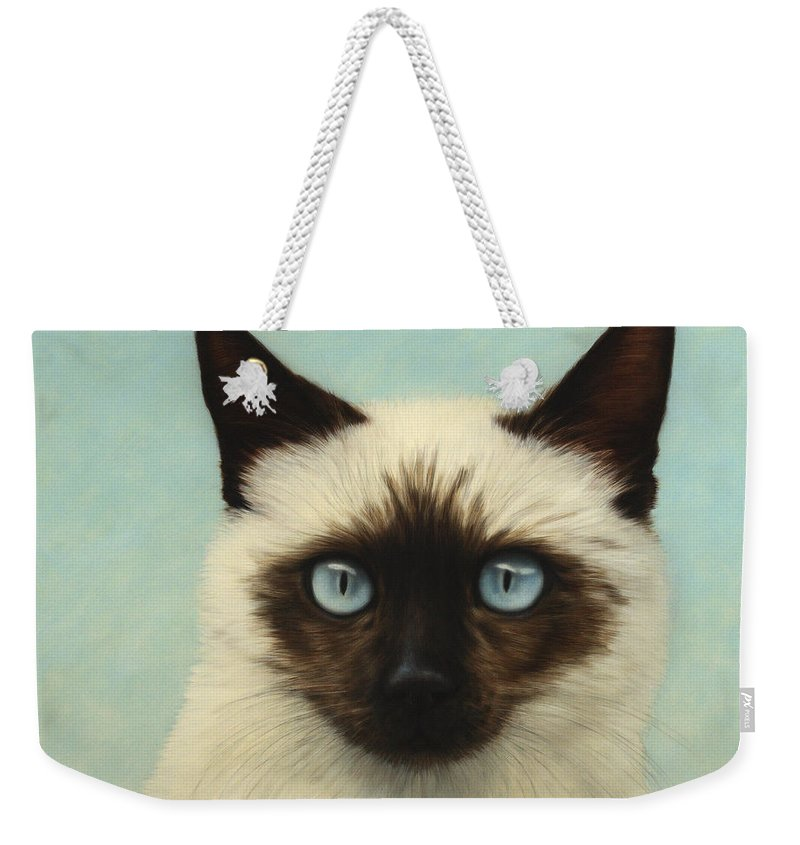 Cat Weekender Tote Bag featuring the painting Machka by James W Johnson