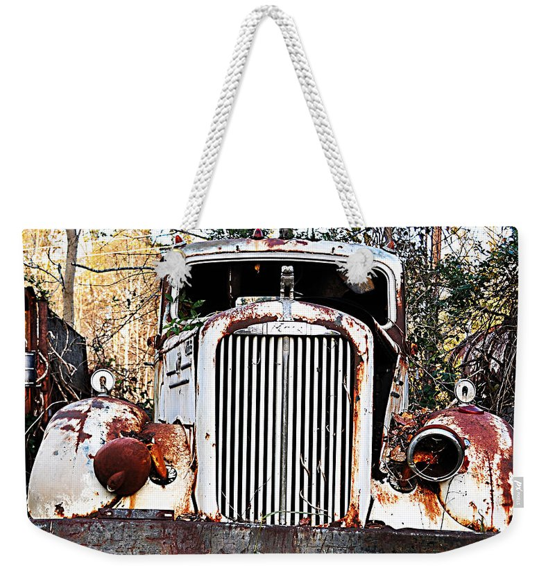 Mack Truck Weekender Tote Bag featuring the photograph Mack by Stacy Abbott