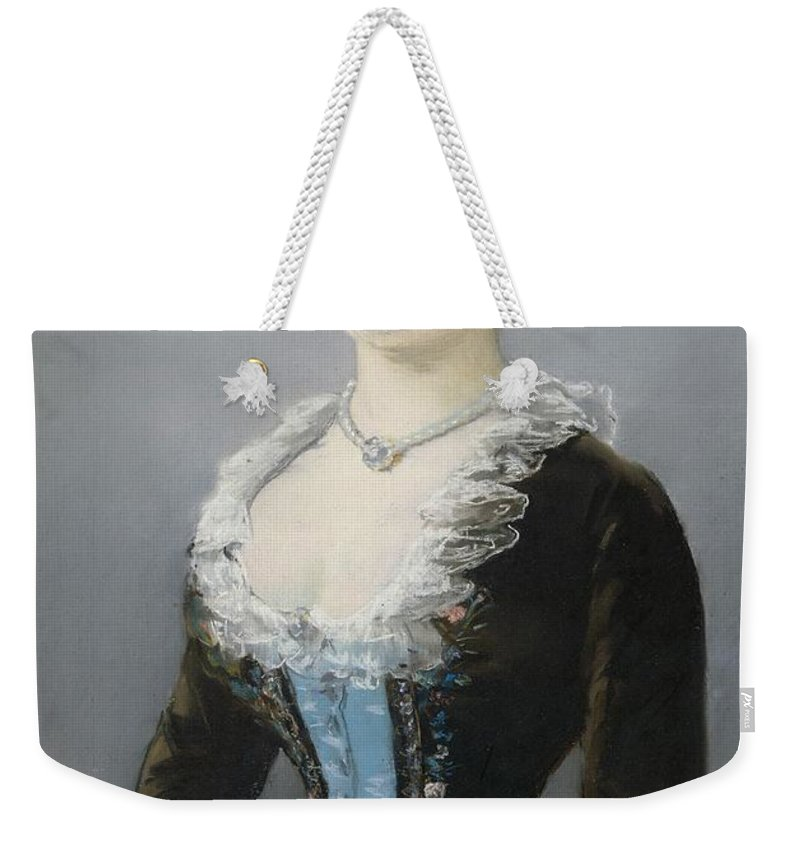 1882 Weekender Tote Bag featuring the painting Madame Michel-levy by Edouard Manet
