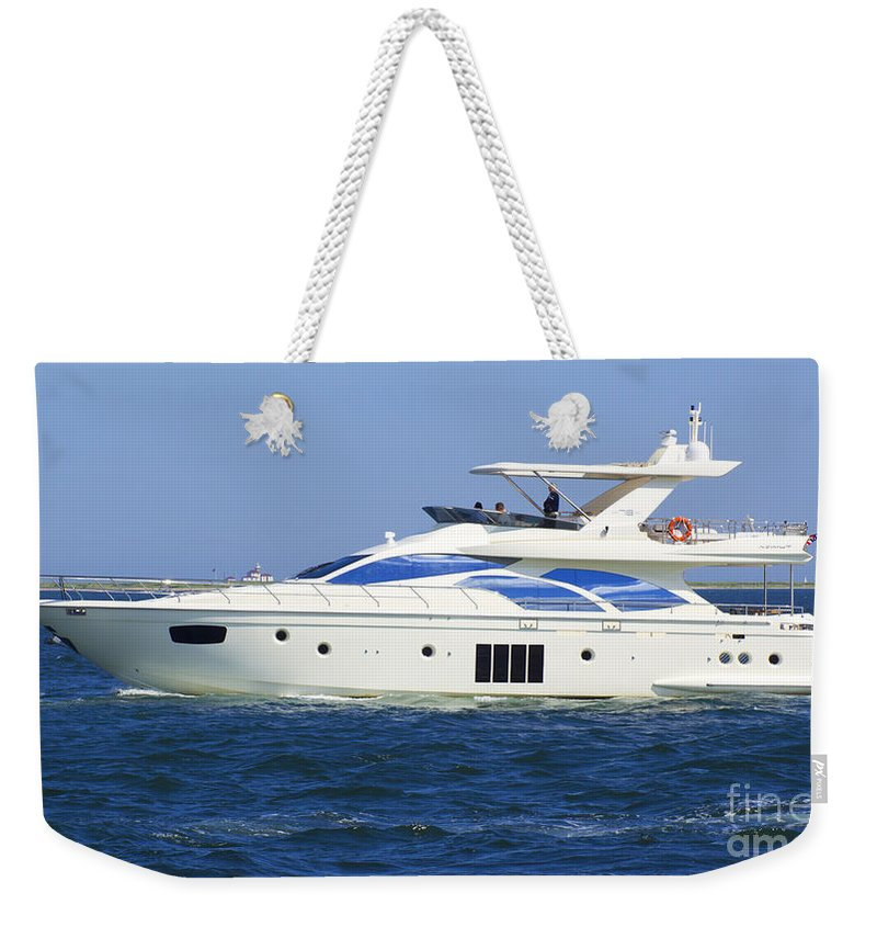 Boat Weekender Tote Bag featuring the photograph Made It by Joe Geraci