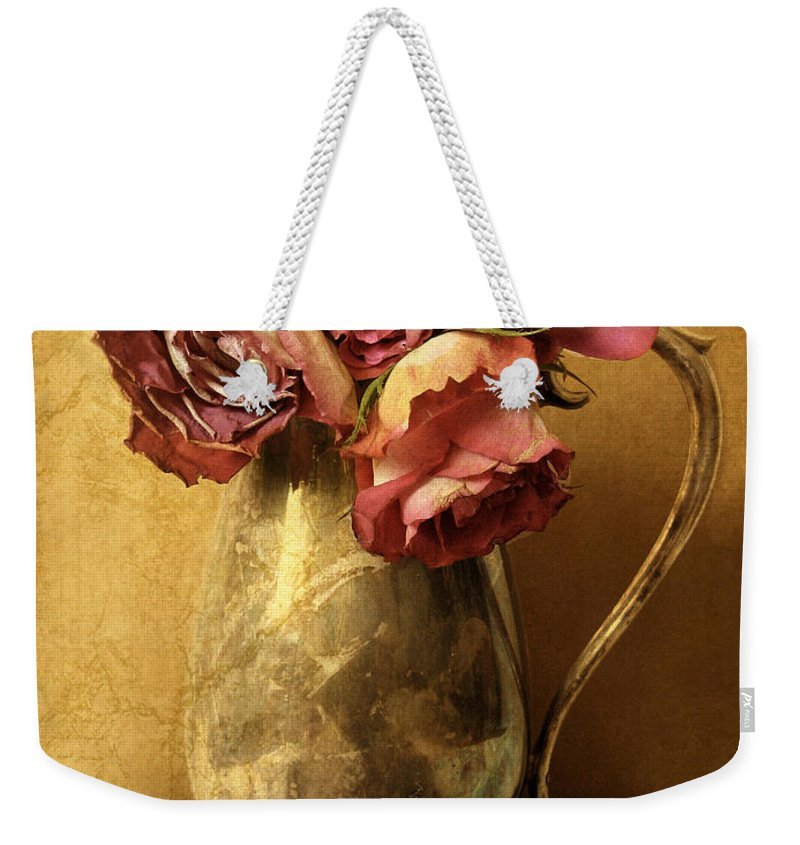 Flowers Weekender Tote Bag featuring the photograph Madeira Roses by Jessica Jenney