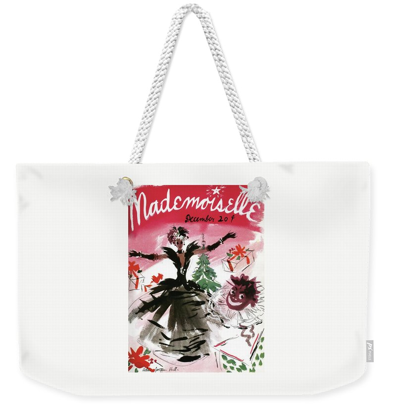 Illustration Weekender Tote Bag featuring the photograph Mademoiselle Cover Featuring A Doll Surrounded by Helen Jameson Hall
