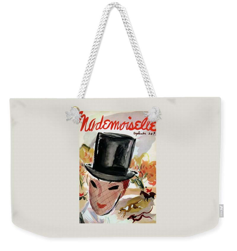 Mademoiselle Cover Featuring A Female Equestrian Weekender Tote Bag