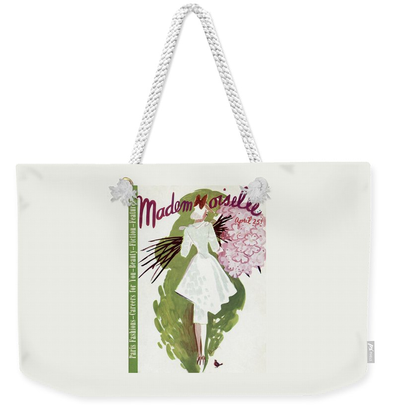 Mademoiselle Cover Featuring A Woman Carrying Weekender Tote Bag