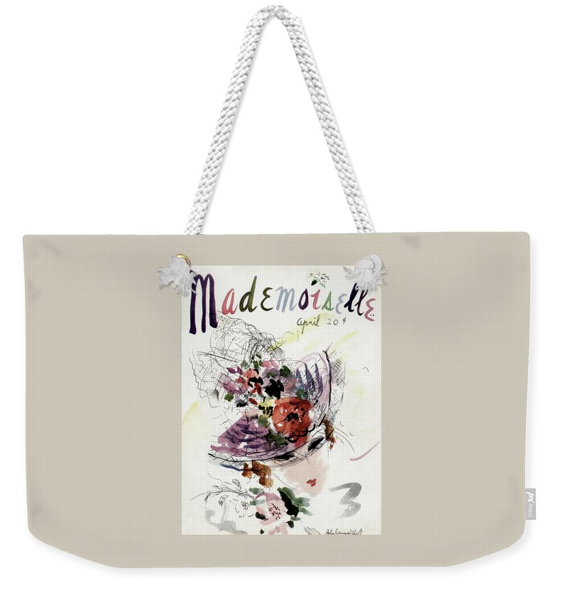 Fashion Weekender Tote Bag featuring the photograph Mademoiselle Cover Featuring An Illustration by Helen Jameson Hall