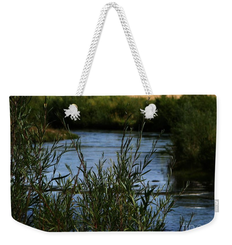 Madison River Weekender Tote Bag featuring the photograph Madison River by Greg Patzer