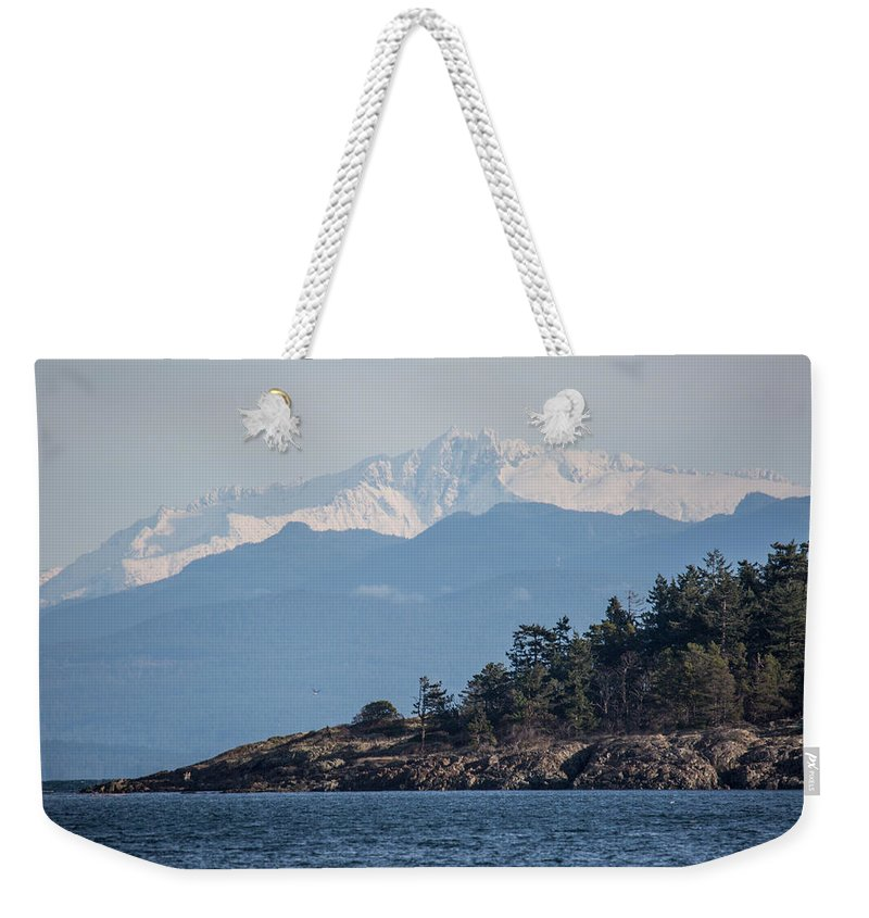 Mountain Weekender Tote Bag featuring the photograph Madrona In December by Randy Hall
