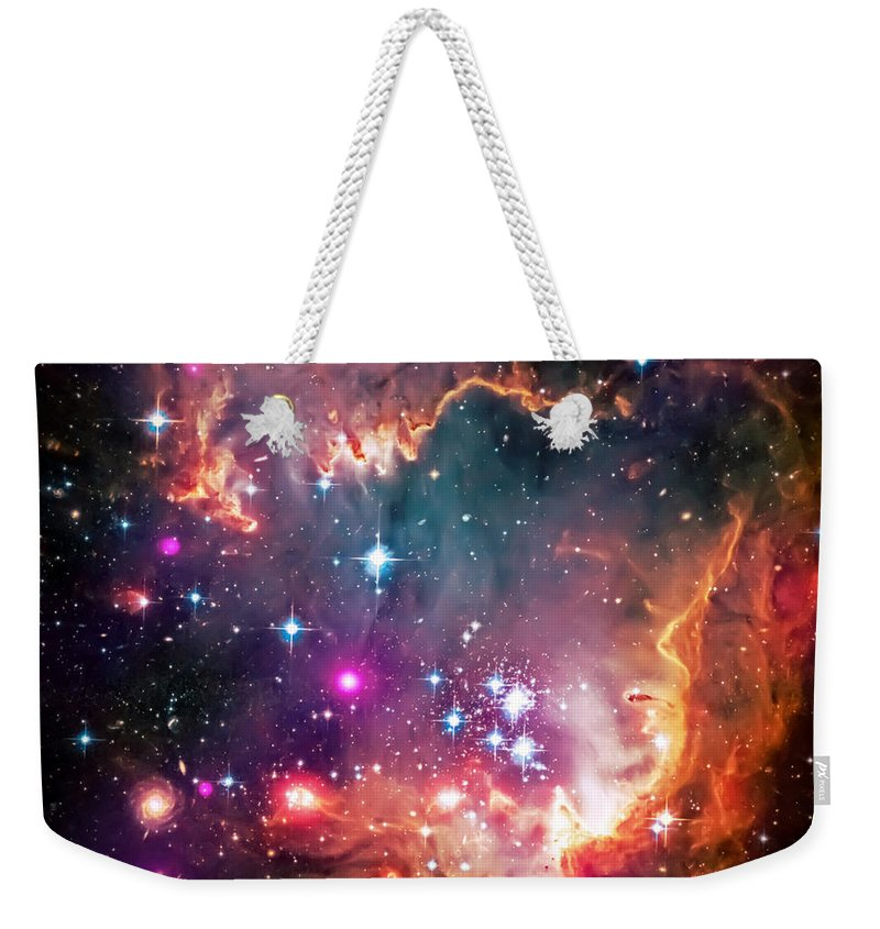 Universe Weekender Tote Bag featuring the photograph Magellanic Cloud 2 by Jennifer Rondinelli Reilly - Fine Art Photography