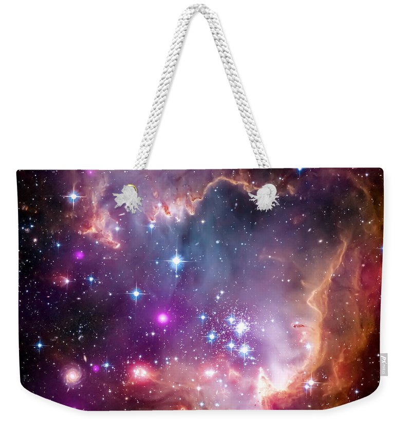Universe Weekender Tote Bag featuring the photograph Magellanic Cloud 3 by Jennifer Rondinelli Reilly - Fine Art Photography