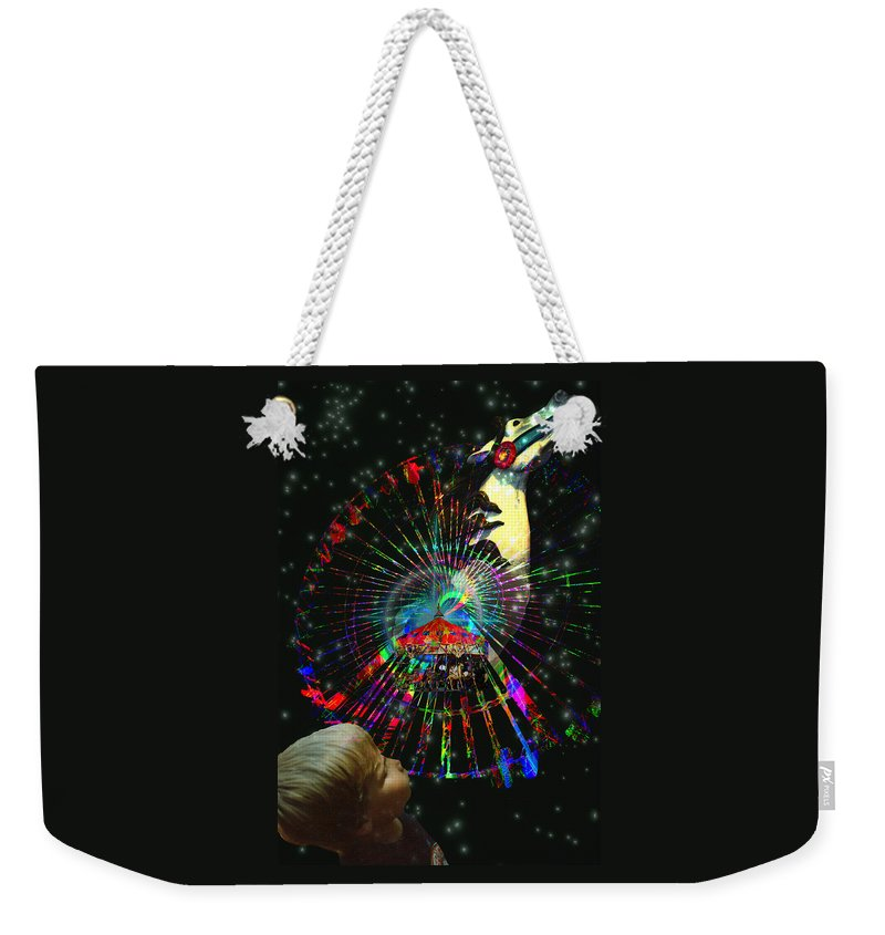 Magic Weekender Tote Bag featuring the digital art Magic Faire by Lisa Yount