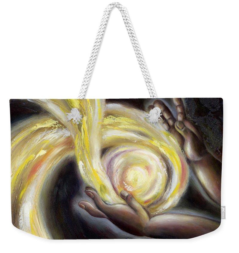 Angel Weekender Tote Bag featuring the painting Magic by Hiroko Sakai