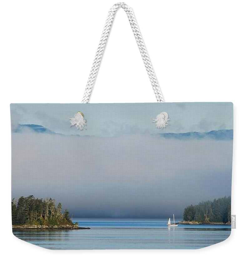 Tracy Arm Weekender Tote Bag featuring the photograph Magic Morning In Tracy Arm Alaska by Camilla Brattemark