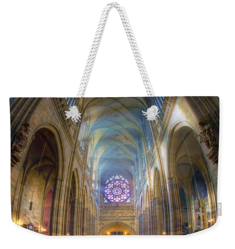 Church Weekender Tote Bag featuring the photograph Magical Light by Joan Carroll