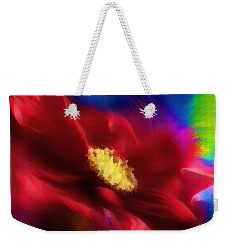 Abstract Weekender Tote Bag featuring the painting Magical Rose by Georgiana Romanovna