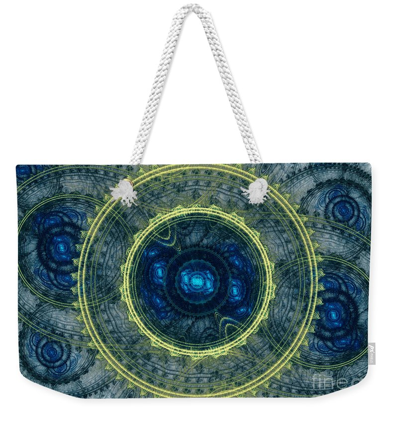 Abstract Weekender Tote Bag featuring the digital art Magical Seal Of The Sea by Martin Capek