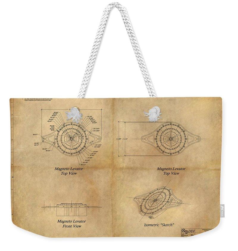 Magneto system blueprint weekender tote bag for sale by james magneto system blueprint weekender tote bag for sale by james christopher hill malvernweather Choice Image