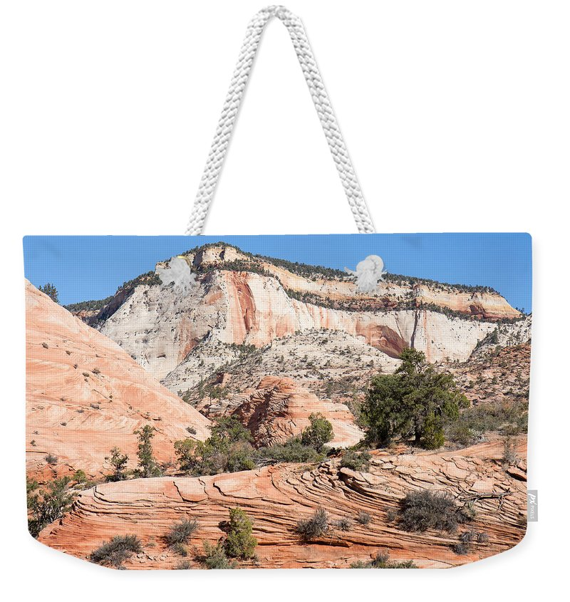 Landscape Weekender Tote Bag featuring the photograph Magnificent Zion by John M Bailey