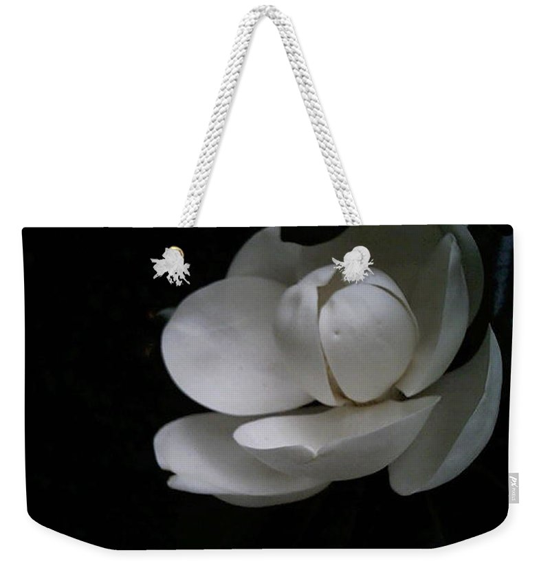 Photography Weekender Tote Bag featuring the photograph Magnolia by Bertie Edwards