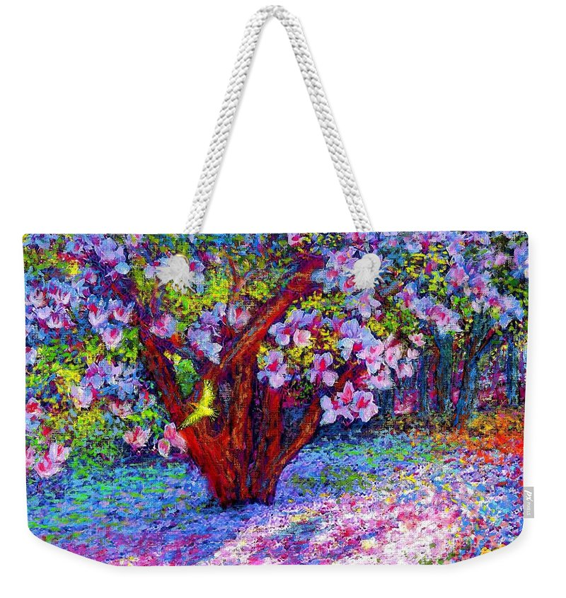 Sun Weekender Tote Bag featuring the painting Magnolia Melody by Jane Small
