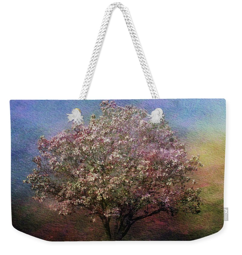 Tree Weekender Tote Bag featuring the photograph Magnolia Tree In Bloom by Sandy Keeton