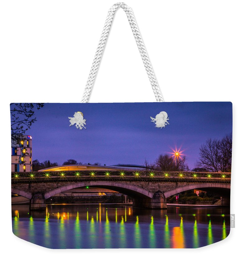 Maidstone Bridge Weekender Tote Bag featuring the photograph Maidstone Bridge by Dawn OConnor