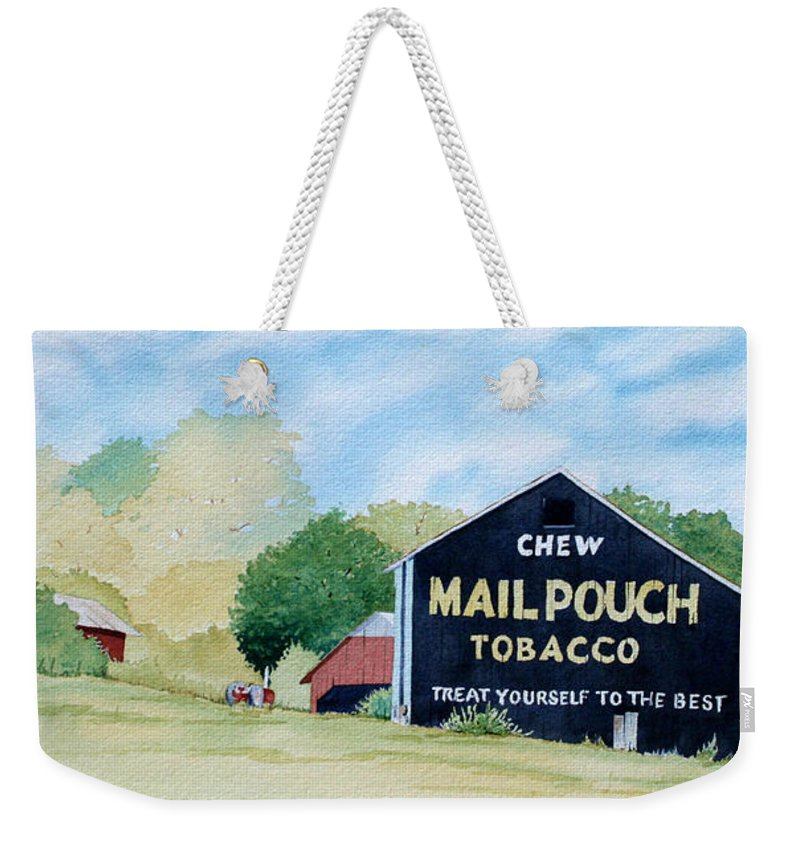 Mail Pouch Weekender Tote Bag featuring the painting Mail Pouch by Jim Gerkin